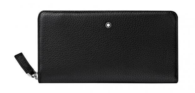 MONTBLANC MEISTERSTUCK SOFT GRAIN LONG WALLET 8CC WITH ZIP BLACK