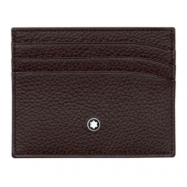 MONTBLANC MEISTERSTUCK SOFT GRAIN POCKET HOLDER BROWN