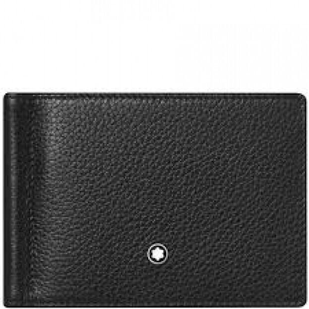 Montblanc Meisterstuck Soft Grain Wallet 6cc Μαύρο Δερμάτινο Πορτοφόλι