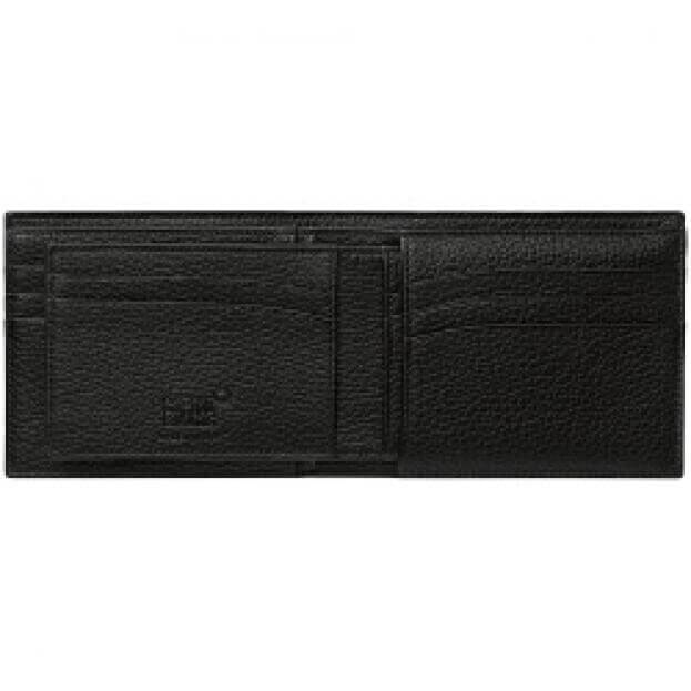 MONTBLANC MEISTERSTUCK SOFT GRAIN WALLET 6CC WITH REMOVABLE CARD HOLDER BLACK