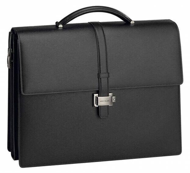 MONTBLANC Westside Briefcase Triple Black Leather