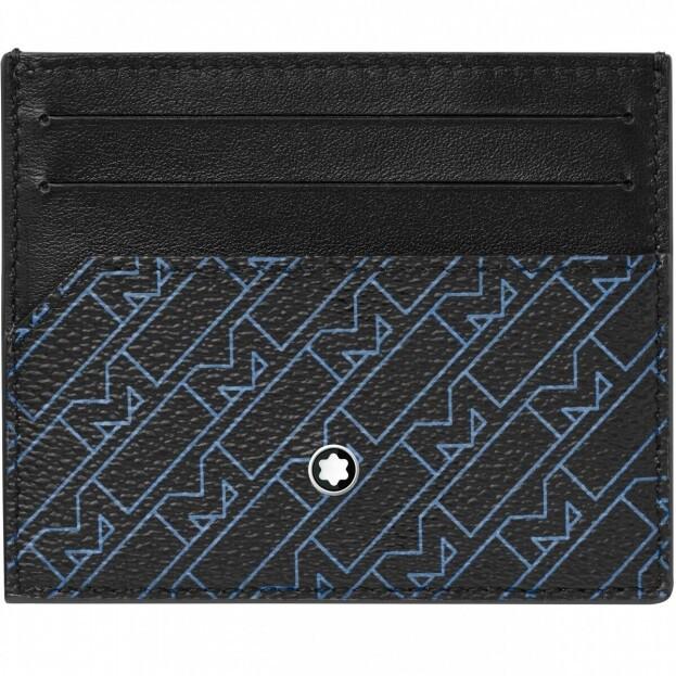 MONTBLANC  Montblanc M_Gram 4810 Pocket Holder 6cc Καρτοθήκη Μπλε Δερμάτινη