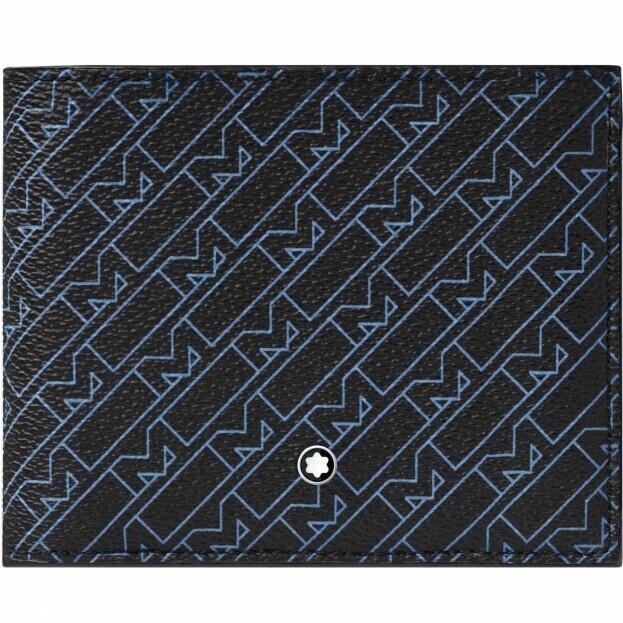 Montblanc Montblanc M_Gram 4810 Wallet 8cc Μπλε Δερμάτινο Πορτοφόλι