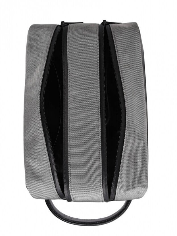 Montblanc Νεσεσέρ NFL Wash Bag 2 Zips Nightflight Γκρι/Μαύρο