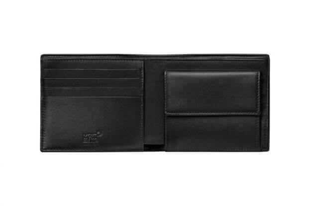 MONTBLANC NIGHTFLIGHT WALLET 4CC WITH COIN CASE 113152