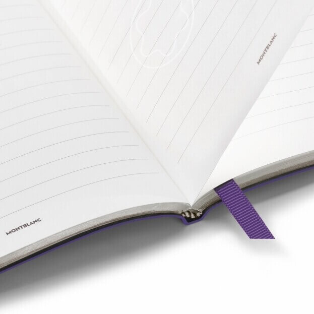 Montblanc Notebook #146 Σημειωματάριο Δερμάτινο Α5 Μωβ