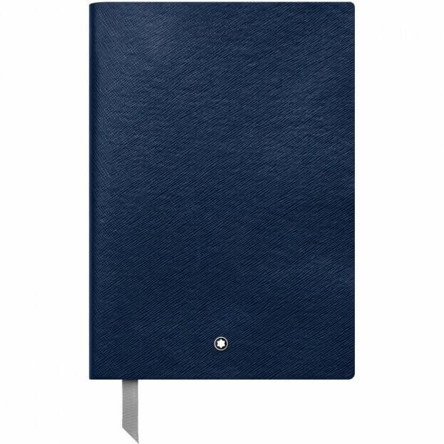 Montblanc Notebook #146 Σημειωματάριο Δερμάτινο Α5 Μπλε Indigo
