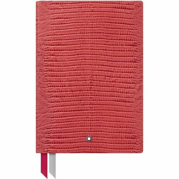 Montblanc Notebook #146 Σημειωματάριο Δερμάτινο Α5 Κόκκινο Lizard Print Cardinal Red