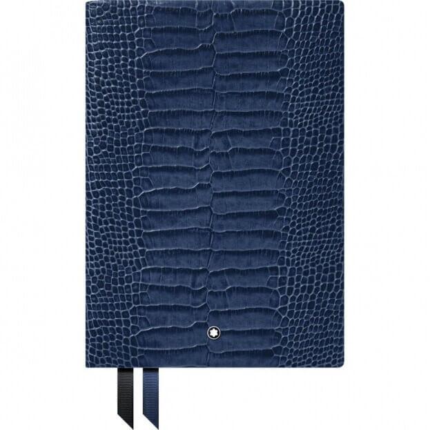 Montblanc Notebook #146 Σημειωματάριο Δερμάτινο Α5 Μπλε Lizard Print Blue Violet