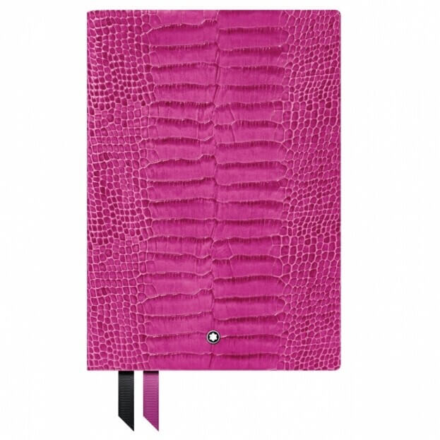 Montblanc Notebook #146 Σημειωματάριο Δερμάτινο Α5 Φούξια Croco Print Pink