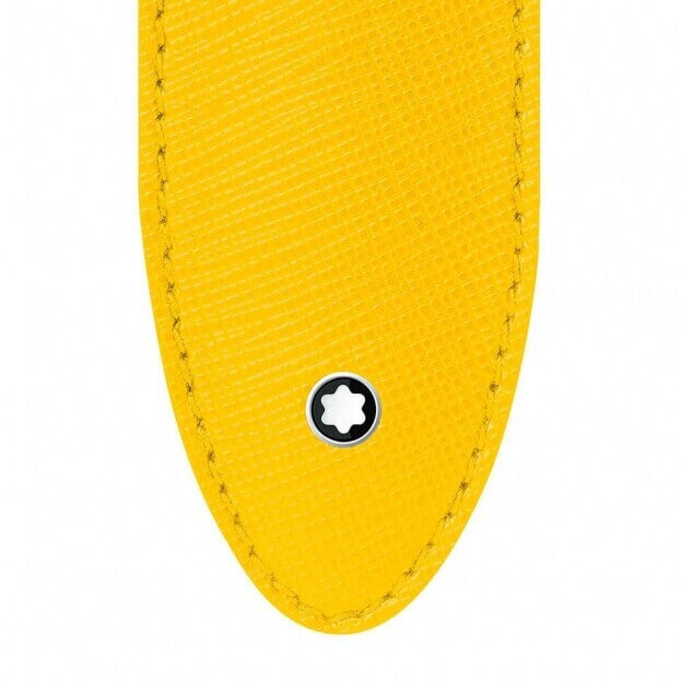 Montblanc Sartorial 1Pen Sleeve Θήκη Στυλογράφου Κίτρινο Δέρμα