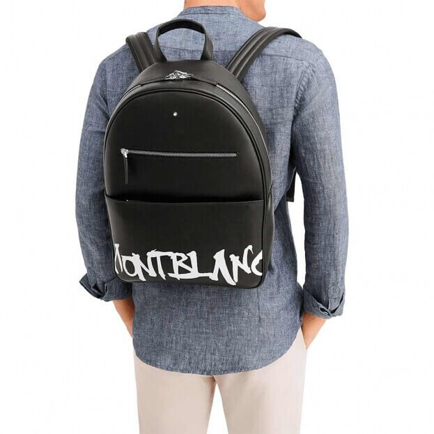 Montblanc Sartorial Calligraphy Dome Backpack Large Μαύρο Δέρμα