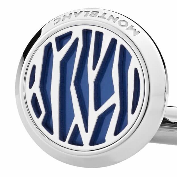 Montblanc Sartorial Cufflinks round shape with lines 126100