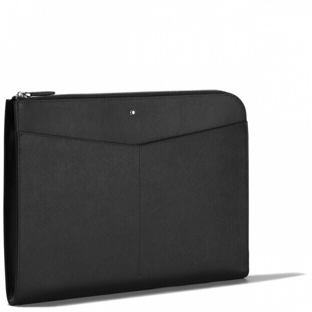 Montblanc Sartorial Portfolio Τσάντα Φάκελος Μαύρο Δέρμα