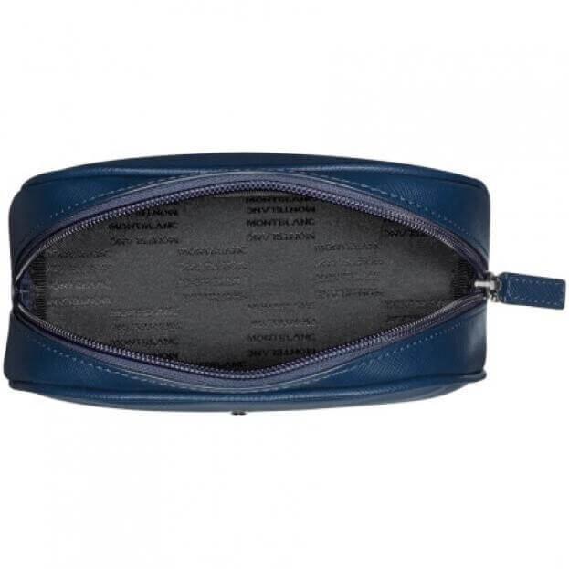 MONTBLANC Sartorial Vanity Bag Large Μπλε Θήκη Νεσεσέρ Δερμάτινη
