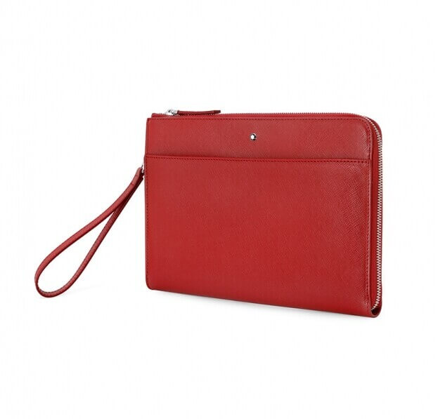 Montblanc Νεσεσέρ Sartorial Pouch Medium Red Δέρμα Κόκκινο