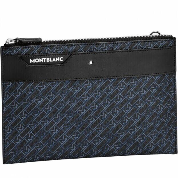 Montblanc Τσαντάκι M_Gram 4810 Medium Pouch Μπλε με σχέδιο