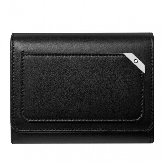 MONTBLANC Urban BCH with Flap and Coin P Black Καρτοθήκη Μαύρη Δερμάτινη