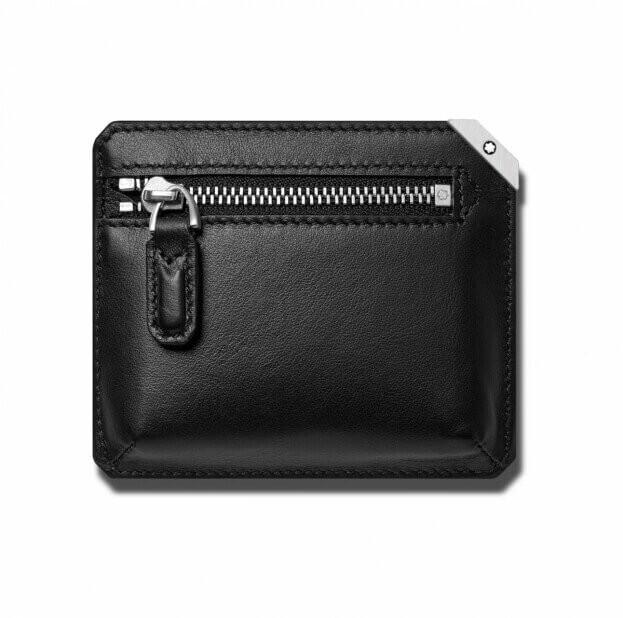 MONTBLANC Urban Pocket 3cc with Zip Black Καρτοθήκη Μαύρη Δερμάτινη