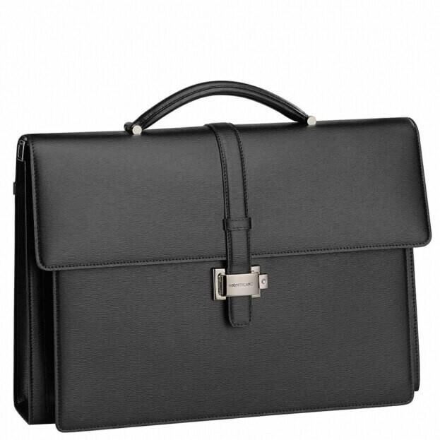 Montblanc Χαρτοφύλακας Διπλός 4810 Westside Black Leather