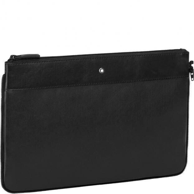 Montblanc My Nightflight Removable Leather Bag Μαύρο τσαντάκι αποσπώμενο