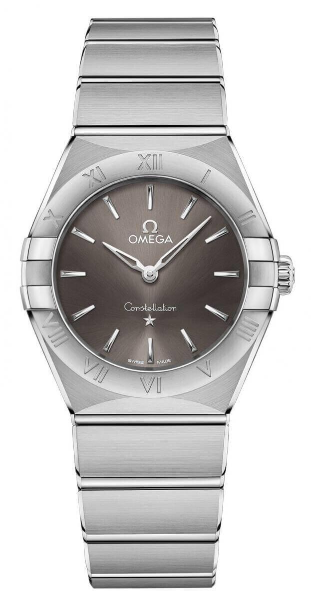 OMEGA Constellation Quartz 28mm Γκρι Καντράν Γυναικείο Ρολόι