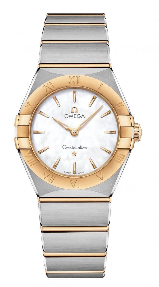 OMEGA Constellation Quartz 28mm Λευκό Καντράν Γυναικείο Ρολόι