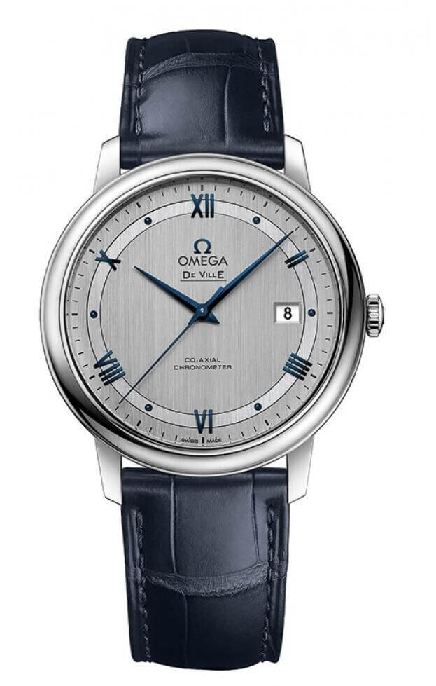 OMEGA De Ville Prestige Co-Axial Automatic 39.5mm Ασημί Καντράν Ανδρικό Ρολόι