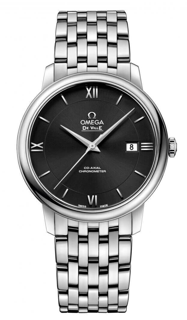 OMEGA De Ville Prestige Co-Axial Automatic 39.5mm Μαύρο Καντράν Ανδρικό Ρολόι