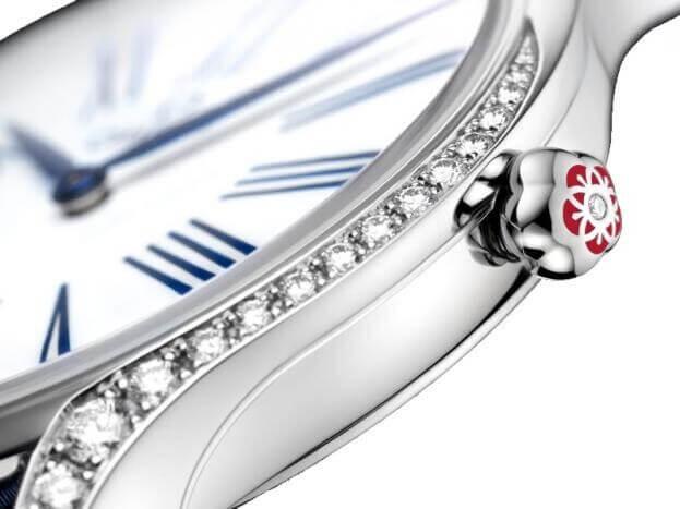 OMEGA De Ville Trésor Quartz 36mm Μπλε Καντράν Γυναικείο Ρολόι με Διαμάντια