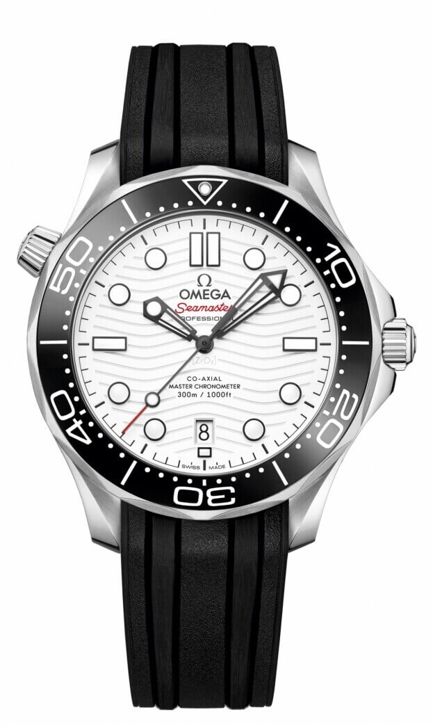 OMEGA Seamaster Diver 300M Co-Axial Master Chronometer 42mm Λευκό Καντράν Ανδρικό Ρολόι