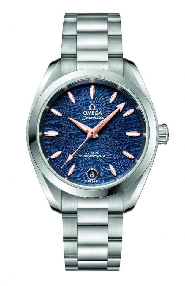 OMEGA Seamaster Aqua Terra 150M Co-Axial Master Chronometer 34mm Μπλε Καντράν Γυναικείο Ρολόι