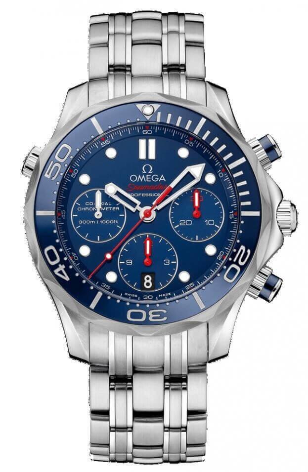 OMEGA Seamaster Diver 300M Co-Axial Chronograph 44mm Μπλε Καντράν Ανδρικό Ρολόι