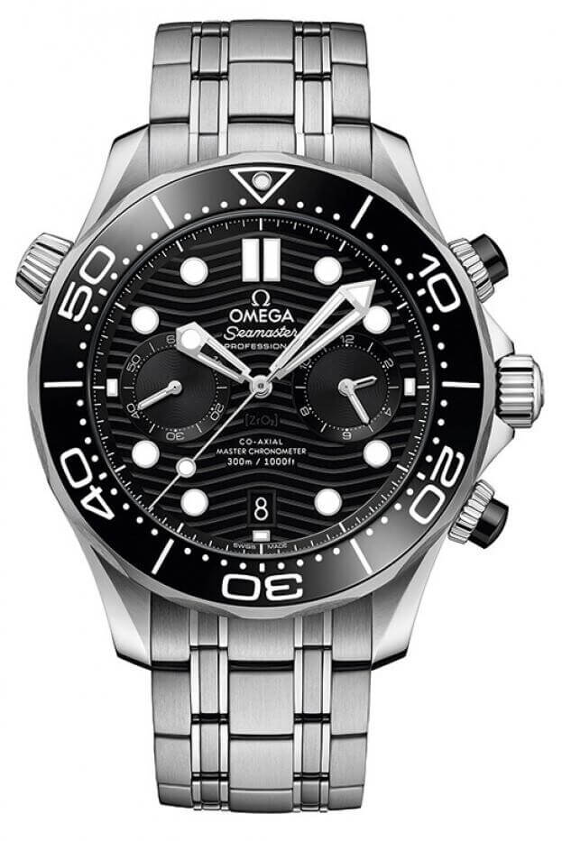 OMEGA Seamaster Professional Diver 300M Co-Axial Chronograph 44mm Μαύρο Καντράν Ανδρικό Ρολόι