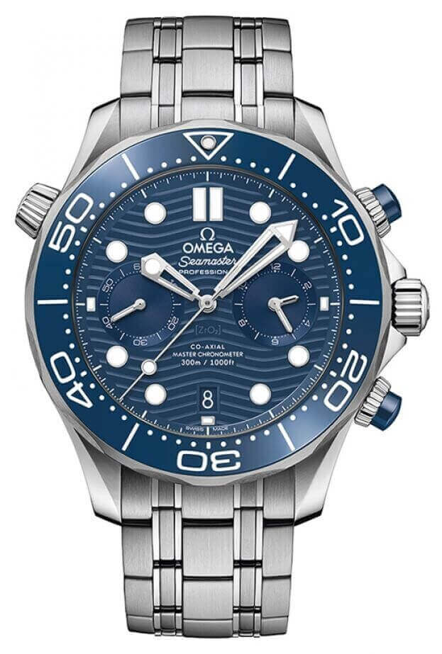 OMEGA Seamaster Professional Diver 300M Co-Axial Chronograph 44mm Μπλε Καντράν Ανδρικό Ρολόι