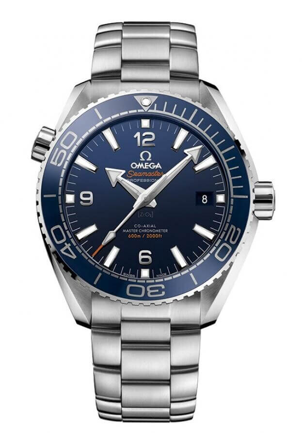 OMEGA Seamaster Planet Ocean 600M Co-Axial Master Chronometer 43.5mm Μπλε Καντράν Ανδρικό Ρολόι