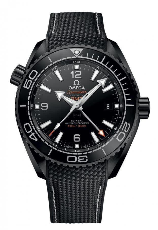 OMEGA Seamaster Planet Ocean 600M Co-Axial Master Chronometer GMT 45.5mm Μαύρο Καντράν Ανδρικό Ρολόι