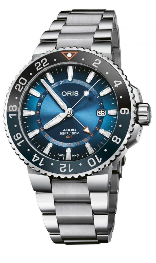 ORIS Aquis Carysfort Reef Automatic Limited Edition 43.5mm Μπλε Καντράν Ανδρικό Ρολόι