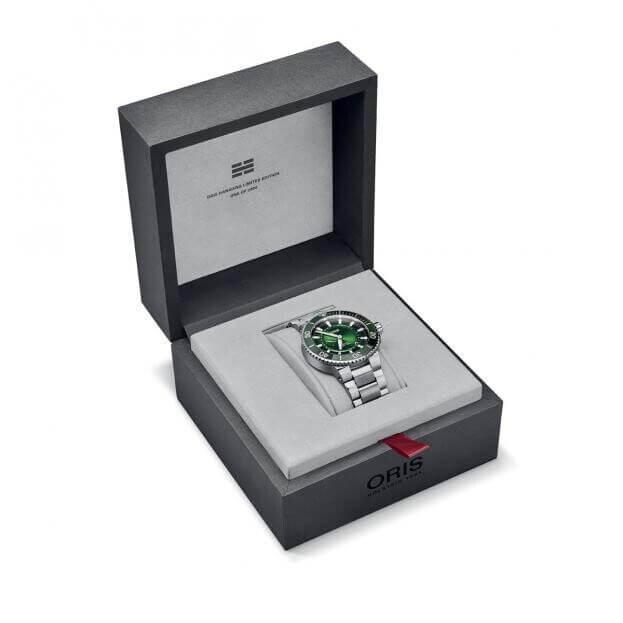 ORIS Aquis Hangang Automatic Limited Edition 43.50mm Πράσινο Καντράν Ανδρικό Ρολόι