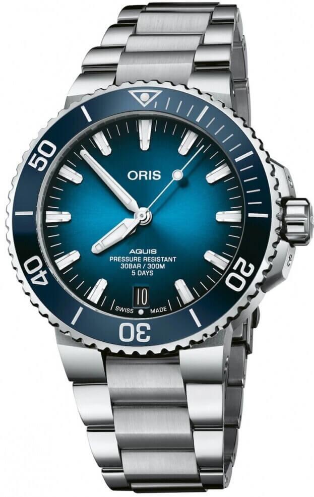ORIS Aquis Calibre 400 Automatic 43.50mm Μπλε Καντράν Ανδρικό Ρολόι