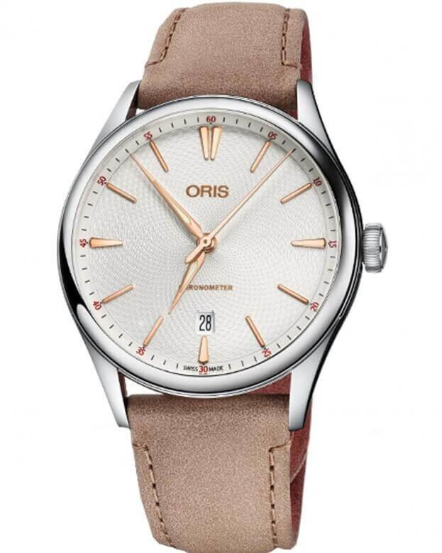 ORIS Artelier Chronometer COSC Date White Dial Mens Watch