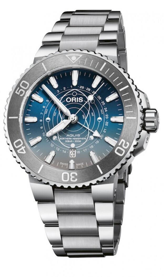 Oris Aquis Dat Watt Limited Edition Automatic 43.50mm Μπλε Καντράν Ανδρικό Ρολόι