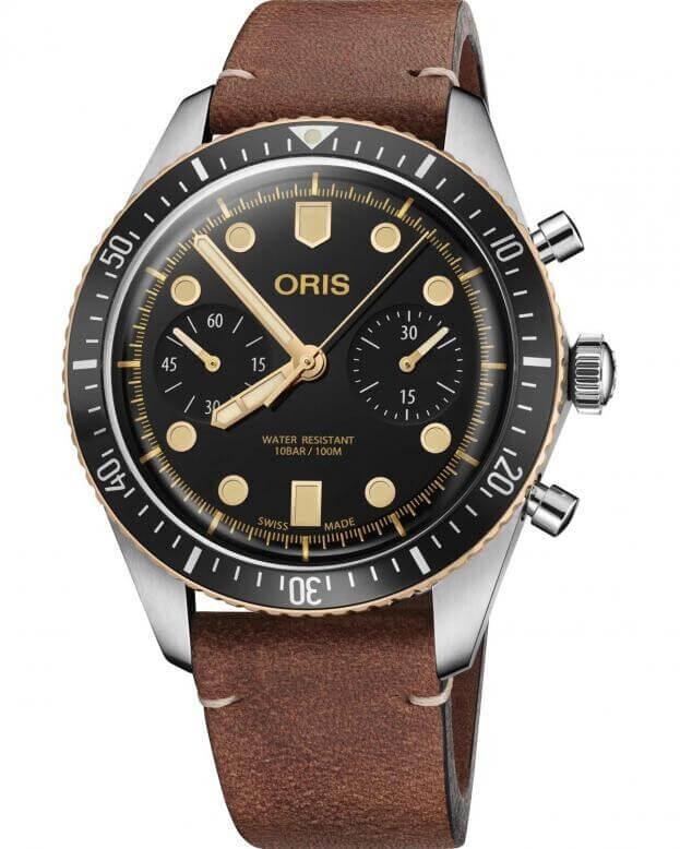 ORIS DIVERS SIXTY-FIVE Chronograph Automatic 43mm Μαύρο Καντράν
