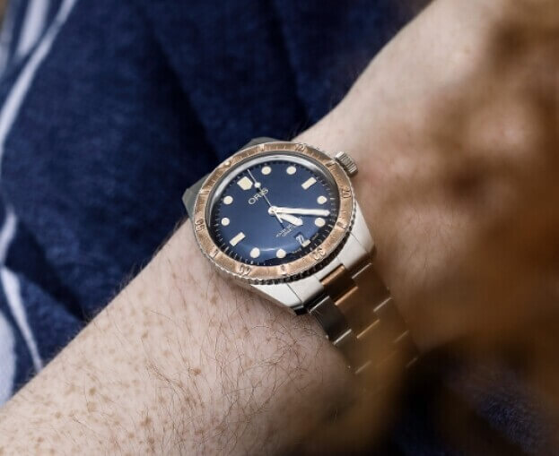 ORIS Divers Sixty-Five Automatic 40mm Μπλε Καντράν Ανδρικό Ρολόι