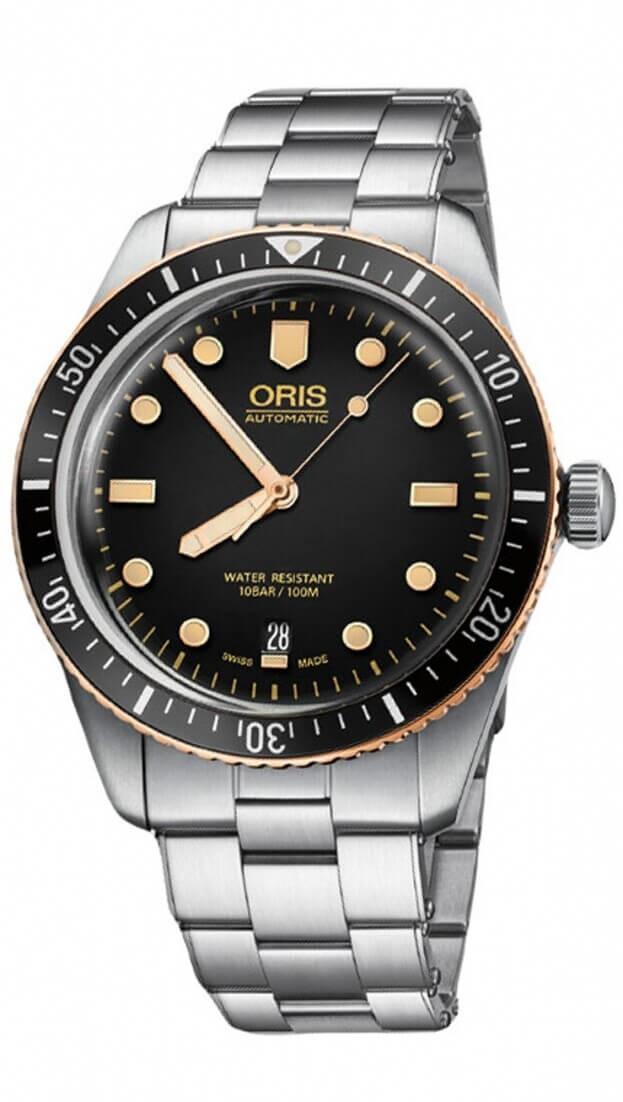 ORIS Divers Sixty-Five Automatic 40mm Μαύρο Καντράν Ανδρικό Ρολόι