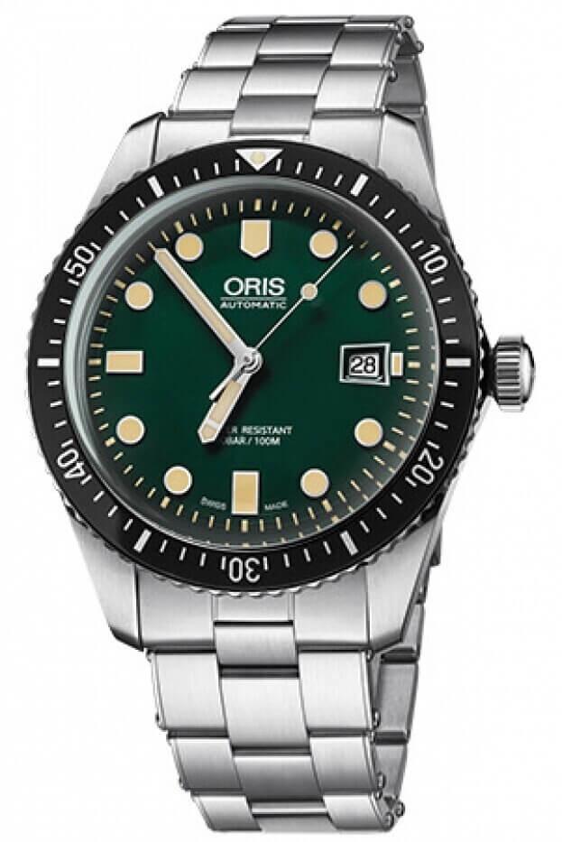 ORIS Divers Sixty-Five Automatic 42mm Πράσινο Καντράν Ανδρικό Ρολόι