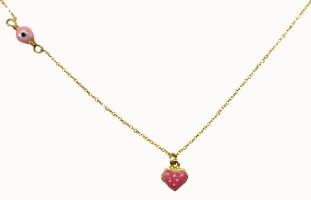 Inglessis Collection Παιδικό Κολιέ Κίτρινος Χρυσός Κ14 Φράουλα
