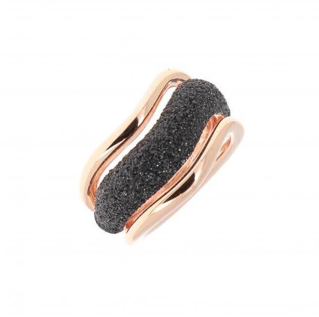 PESAVENTO ANELLI RING PINK SHINY BLACK DUST WPLVA1070