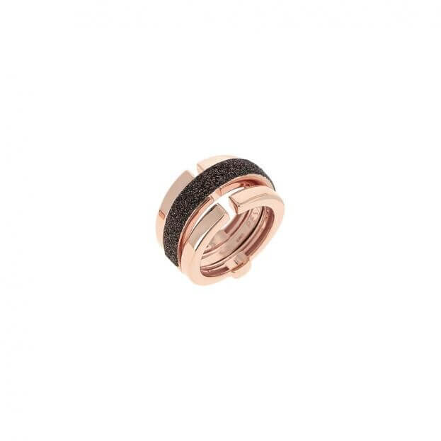 PESAVENTO ANELLI RING PINK SHINY BROWN DUST WPLVA1581