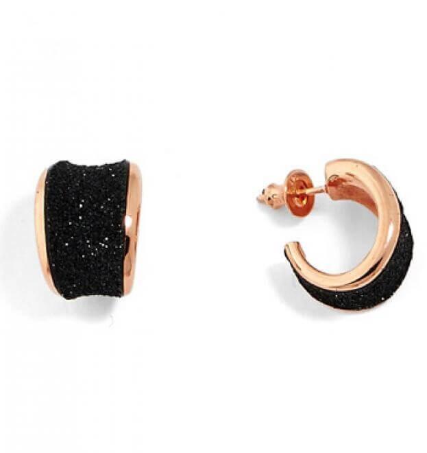 PESAVENTO ORECCHINI PINK SHINY BLACK DUST EARRINGS LVO267